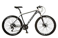 "Велосипед 27.5"" Leon XC-80 AM 14G DD рама-18"" Al чёрно-белый (м) 2017"
