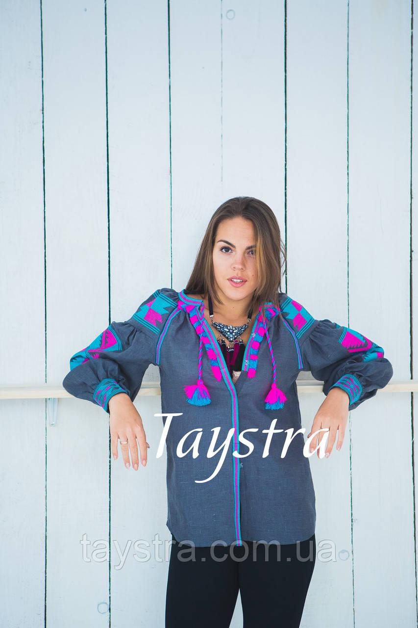 Блузка вышитая  бохо, вышиванка лен, этно стиль, Bohemian
