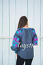Блузка вышитая  бохо, вышиванка лен, этно стиль, Bohemian, фото 4