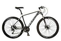"Велосипед 27.5"" Leon XC-80 AM 14G DD рама-20"" Al чёрно-белый (м) 2017"