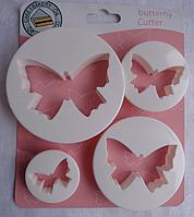 """Вырубка для мастики """"Бабочки"""" набор из 4 форм"""
