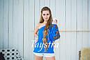 Блуза один рукав моношолдер вышитая женская, бохо, вышиванка лен, этно стиль, Bohemia, фото 4