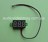Вольтметр 4.5-30 V для постоянного тока, цвет цифр - зеленый
