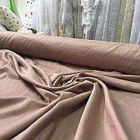 Сатин Люкс однотонный розово-коричневый (есть брак), ширина 220 см, фото 1