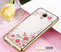 Чехол Luxury для Meizu M2 / M2 mini Бампер Gold