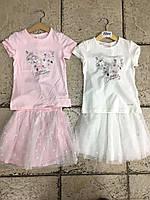 Детский, летний костюм для девочки ,р-ры 98-128,хлопок100%
