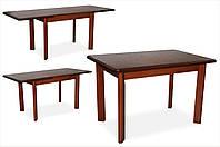 Стол обеденный Комфорт венге 120/200х80 деревянный раскладной