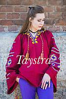 Блуза бохо вышитая, широкий рукав, вышиванка лен, этно стиль, Bohemian