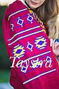 Блуза бохо вышитая, широкий рукав, вышиванка лен, этно стиль, Bohemian, фото 3