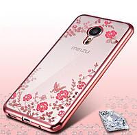 Чехол Luxury для Meizu M3 note Бампер Rose Gold