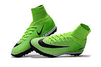 Детские футбольные сороконожки Nike Mercurial Proximo II DF TF Electric Green/Black/Ghost Green