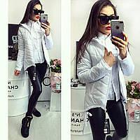 Женская курточка парка арт. 210 цвет белый