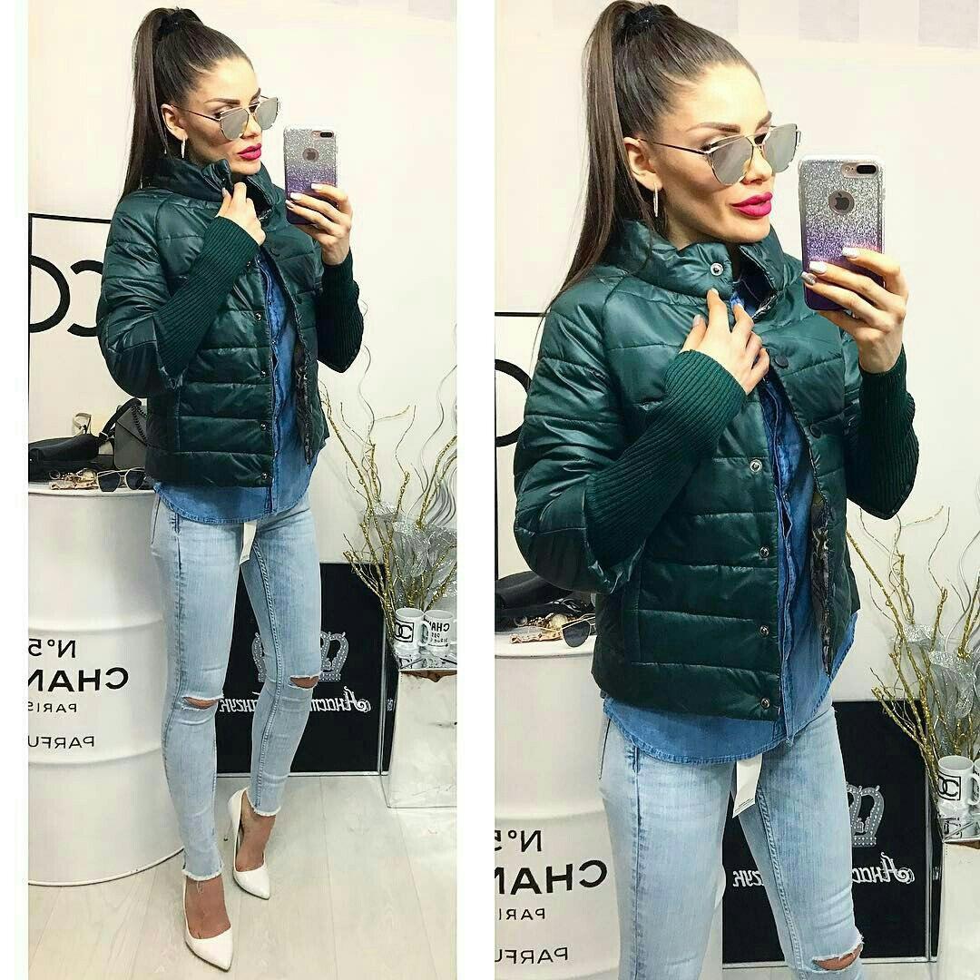 Куртка женская,  модель 205, бутылочный