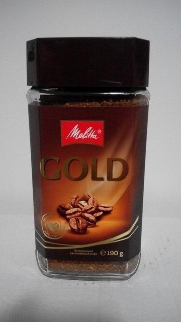 Растворимый кофе Melitta Gold 190 г.