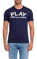 Футболка синяя |Comme des Garcons logo