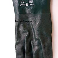 """Перчатки """"Рыбак"""" КЩC зелёные ПВХ покрытие, текстурированные (27см)"""
