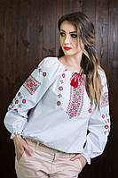 Необыкновенная женская вышитая блузка с длинными рукавами