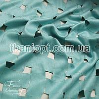 Ткань Замша стрейч текстурированный (мята)