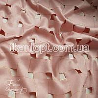 Ткань Замша стрейч текстурированный (пудра)
