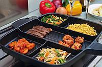 Антипригарная сковорода Magic pan на 5 секций, фото 1