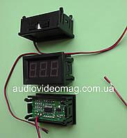 Вольтметр 4.5-30 V для постоянного тока, в корпусе, красный