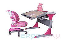 Комплект Детская парта растишка трансформер Ergoway T100B + Кресло M300 Pink + ПОДАРОК