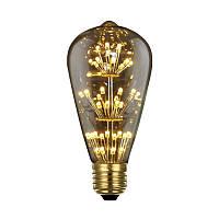LED лампа Эдисона ST-64  (3w)  VINTAGE Fireworks