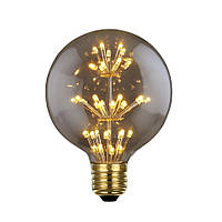 LED лампа Эдисона G-80  (3w)  VINTAGE Fireworks