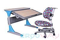 Комплект Детская парта растишка трансформер Ergoway T100B + Кресло M300-D Blue + ПОДАРОК