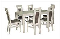 Стол обеденный Модерн бежевый 140(+40)х80х76 деревянный раскладной