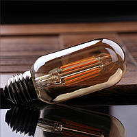 LED лампа Эдисона T-45  (4w) (AMBER)  Filament  (диммируемая)