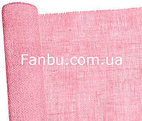 Мешковина натуральная флористическая ,розового цвета (лист 0.5* 0.5м)