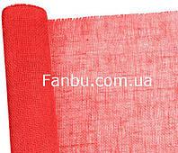 Мешковина натуральная флористическая ,красного цвета (лист 0.5* 0.5м)