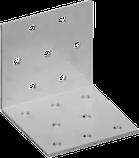Пластина угловая равнополочная перфорированная.