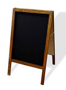 Штендер меловой 100х60 см, двухсторонний Темный