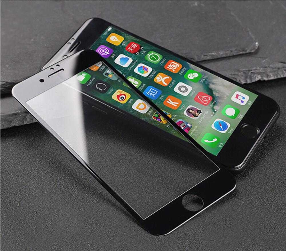 Защитное стекло для Iphone 6 Plus / Iphone 6s Plus черное Carbon Fiber