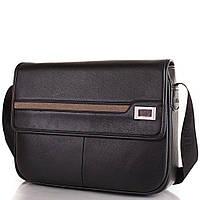 Сумка-почтальонка (мессенджер) Bonis Мужская сумка-почтальонка из качественного кожезаменителя BONIS (БОНИС) SHIL8101-black