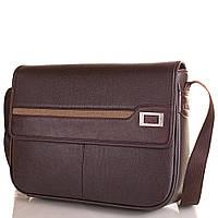 Сумка-почтальонка (мессенджер) Bonis Мужская сумка-почтальонка из качественного кожезаменителя BONIS (БОНИС) SHIL8101-brown