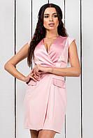 """Короткое летнее мини-платье """"Санита"""" с декольте и атласными вставками (3 цвета)"""