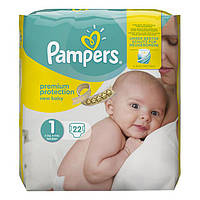 Pampers New Baby Premium Protection Newborn Windeln - Подгузники для новорожденных, 22 шт