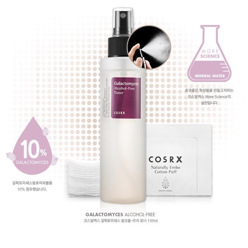 Безспиртовой тонер COSRX Galactomyces Alcohol-Free Toner 150мл