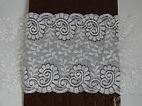 Стрейчевое кружево-278,ширина 16,5см,цвет белый