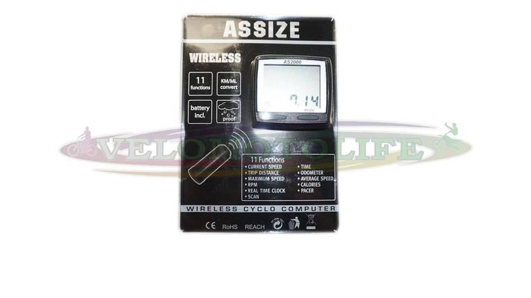 """Велокомпьютер  ASSIZE AS-2000  беспроводной (11 режимов)  """"Тайвань"""", фото 2"""