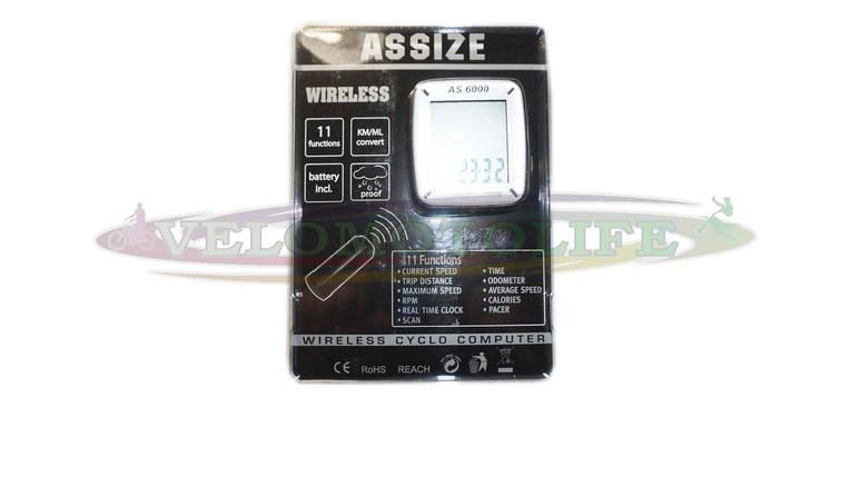 """Велокомпьютер ASSIZE AS-6000 беспроводной (11 режимов) """"Тайвань"""", фото 2"""