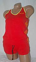 """Летний костюм майка+шорты """"Soccer"""" красный"""