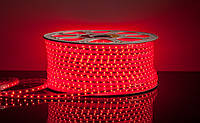 Светодиодная лента LED 5050 R 100m 220V Бухта красные диоды
