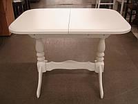 Стол Аврора белая 102(+32)х70х74 обеденный