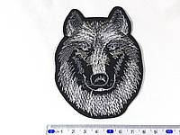 Нашивка волк (small) цвет черно белый