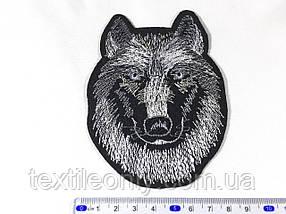 Нашивка вовк (small) колір чорно білий