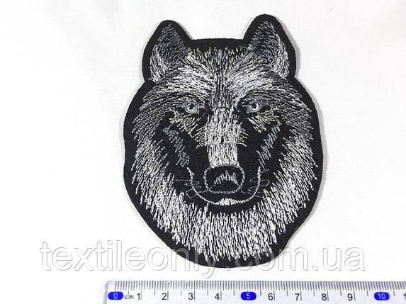 Нашивка волк (small) цвет черно белый , фото 2